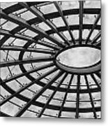 Architecture Ceiling In Black And White Metal Print