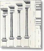 Architecture I Orders Of Architecture Engraved By Charles Lawrie Metal Print