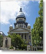 Illinois State Capitol  - Luther Fine Art Metal Print