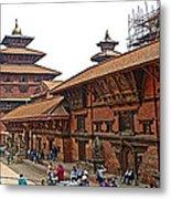 Architecture Of Patan Durbar Square In Lalitpur-nepal Metal Print