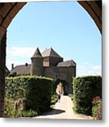 Archway Chateau Of Berze Metal Print