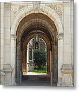 Archway To Courtyard Metal Print