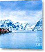 Arctic Dawn Lofoten Islands Metal Print
