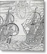 Arctic Phenomena From Gerrit De Veer S Description Of His Voyages Amsterdam 1600 Metal Print