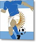 Argentina Soccer Player2 Metal Print