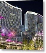 Aria Light - Aria Resort And Casino At Citycenter In Las Vegas Metal Print