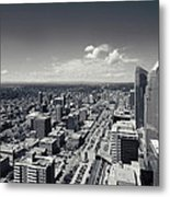 Arial View Of Calgary Facing West Metal Print
