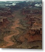 Ariel Photograph During A Spring Storm Metal Print
