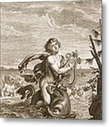 Arion Preserved By A Dolphin, 1731 Metal Print