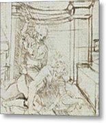 Aristotle And Phyllis Metal Print