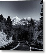 Arizona Country Road In Black And White Metal Print
