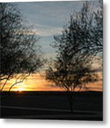 Arizona Desert Sunrise Metal Print