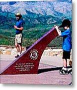 Arizona Highway Patrol Memorial Metal Print