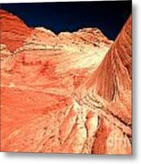 Arizona Sandstone Waves And Lines Metal Print