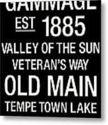 Arizona State College Town Wall Art Metal Print by Replay Photos