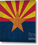 Arizona State Flag Metal Print by Pixel Chimp