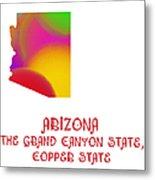 Arizona State Map Collection 2 Metal Print