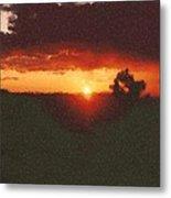 Arizona Sunset Painting Metal Print