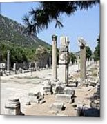 Arkadiane - Harbor Street Ephesus Metal Print