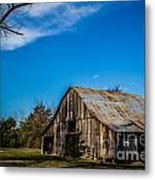 Arkansas Barn And Blue Skies Metal Print by Jim McCain