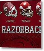 Arkansas Razorbacks Football Panorama Metal Print by Retro Images Archive