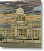 Arkansas State Capitol Metal Print by Mary Ann King