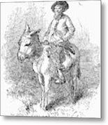 Arkansas Traveler, 1878 Metal Print