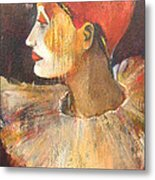 Arlequin In A Red Hat Metal Print