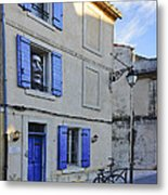 Arles With Bicycle And Moai Dsc01802   Metal Print