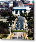 Arlington Memorial Bridge Leads Metal Print