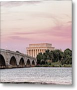 Arlington Memorial Bridge With Lincoln Metal Print