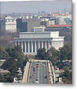 Arlington National Cemetery - View From Arlington House - 12123 Metal Print