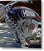 Armed Forces Tribute Bike Metal Print
