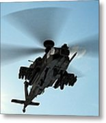Armed Longbow Apache Helicopter In Metal Print