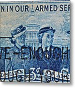 Armed Services Women Stamp Metal Print