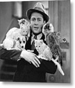 Armful Of Cats And Dogs Metal Print
