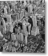 Army Air Corp Over Manhattan Metal Print