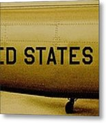 Army Chopper Metal Print by Benjamin Yeager