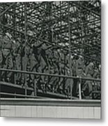 Army Test The Coronation Stands Outside The Abbey Metal Print