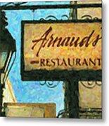 Arnauds New Orleans_oil Digital Art Metal Print
