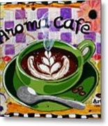 Aroma Cafe Metal Print