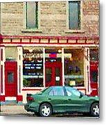 Aromate Resto Cafe Rue St Jacques St Henri  Montreal Urban Food City Scenes Carole Spandau Metal Print