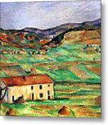Around Gardanne By Cezanne Metal Print
