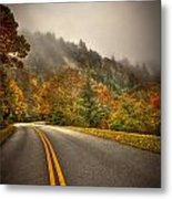 Around The Bend Clouds Along The Blue Ridge Parkway Metal Print