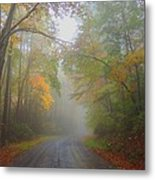 Around The Bend Metal Print by Judy  Waller