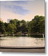 Around The Central Park Pond Metal Print