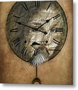 Around The Clock-time Is Flying Metal Print