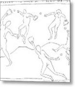 Around The Horn With Matisse: Matisse's Dancers Metal Print