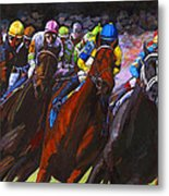 Around The Turn They Come Metal Print