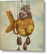 Around The World In The Goldfish Flyer Metal Print